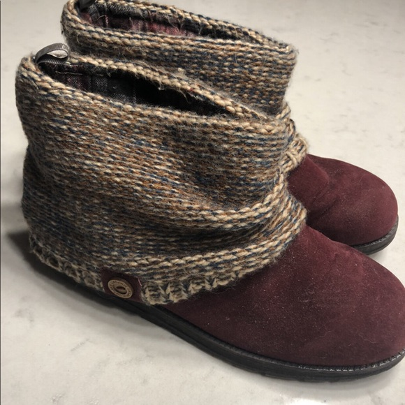 Maroon Ankle Boots - Muk Luks size 10